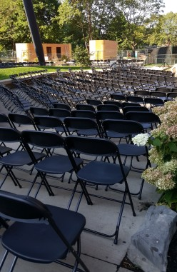 Folding Chairs rented for outdoor event downtown Toronto